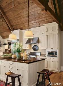 15 rustic kitchen cabinets designs ideas with photo With kitchen cabinets lowes with high ceiling wall art