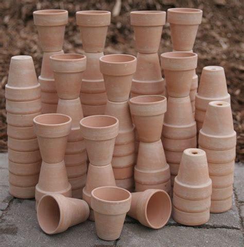 bulk lot   clay flower pots doll house craft