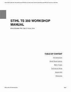 Stihl Ts350 Parts Diagram