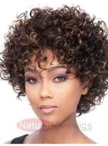 Short Curly African American Human Hair Wigs