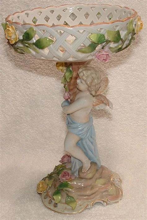 vintage ceramic ls antique schierholz porcelain centerpiece 3169