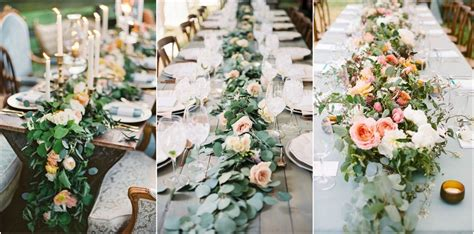 wedding trend unique floral wedding garland table