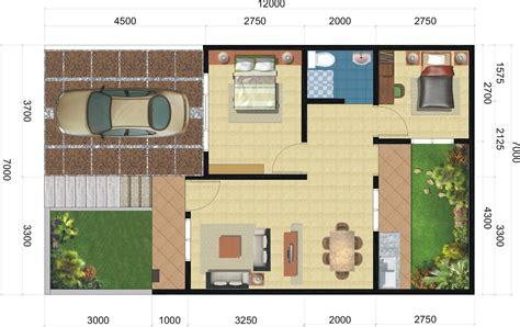 desain rumah minimalis  lantai  biaya desain