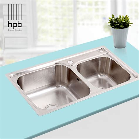 high quality stainless steel kitchen sinks hpb high quality 304 stainless steel fregadero bowl 8387