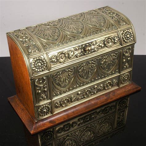 Ebay Uk Antique Ls by Antique Brass Stationery Box Ebay