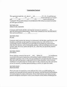 Sample Painting Contract Agreement Work Need This Form