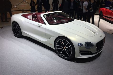 Bentley Car : All-electric Bentley Exp 12 Speed 6e Convertible At Geneva