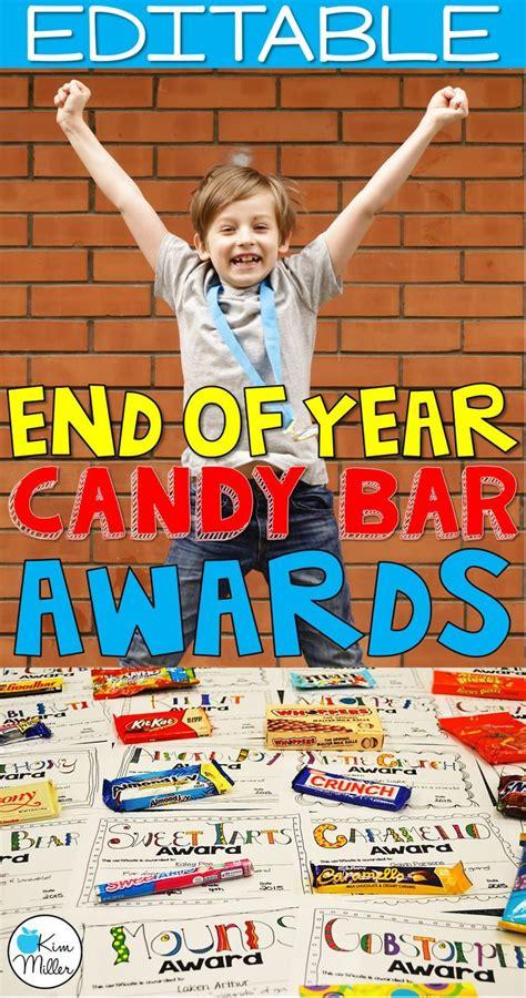 year awards editable candy bar awards