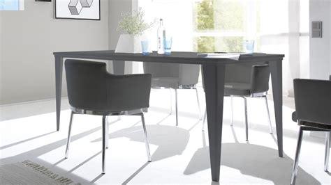 canape de qualite table de salle à manger laquée gris mat 180cm galatik