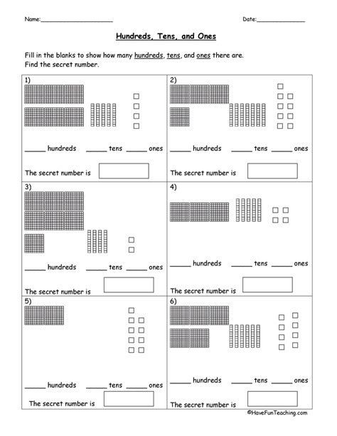 base 10 blocks place value worksheet teaching