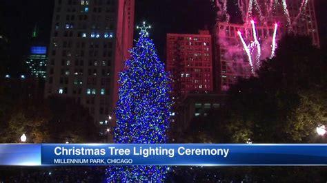 millennium park christmas lights official tree sparkles at new millennium park location