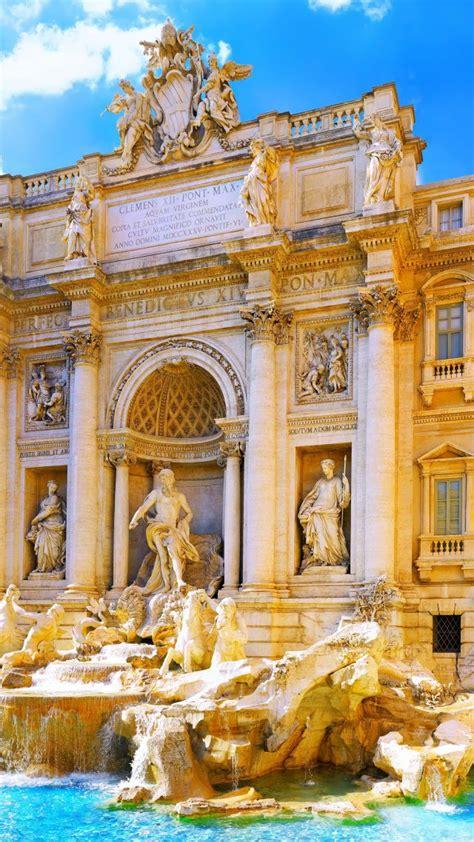 wallpaper trevi fountain rome italy tourism travel