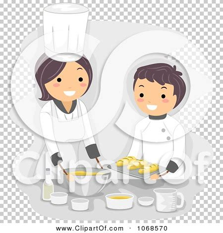 Clipart Home Economics Teacher And Boy Cooking - Royalty ...