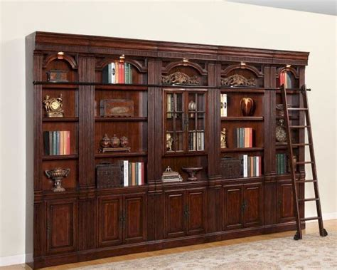 Wall Bookcases by House Wellington Library Bookcase Wall Set Phwel Set3