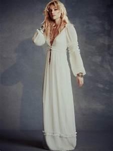 Robe Blanche Longue Boheme : robe longue hippie les 60 belles robes boheme boho chic ~ Preciouscoupons.com Idées de Décoration