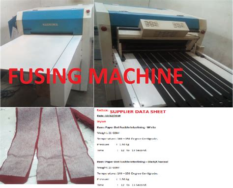 fusing process  quality inspection  fusing machine  apparel ordnur textile  finance