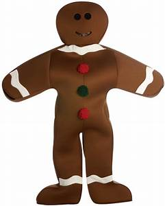 Adult Gingerbread Man Costume - Adult Costumes