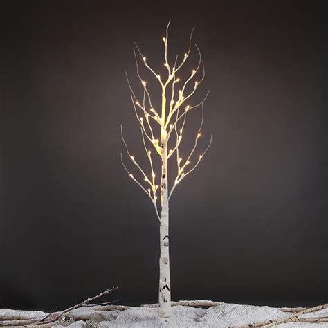 4ft 48led Birch Twig Tree Branches Light Warm White Xmas