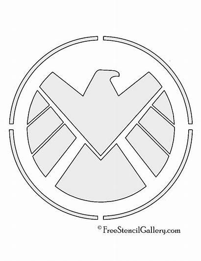 Shield Stencil Avengers Stencils Template Superhero Logos