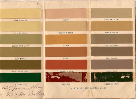 the house historic paint colors for the