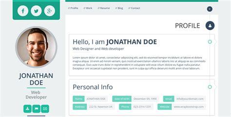 html profile template 40 premium bootstrap themes templates idevie