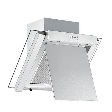 Cookology ANG605SS   60cm Angled Glass Kitchen Extractor