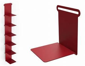 Range Livre Ikea : etag re knick range livres l 15 cm rouge mati re grise made in design ~ Melissatoandfro.com Idées de Décoration