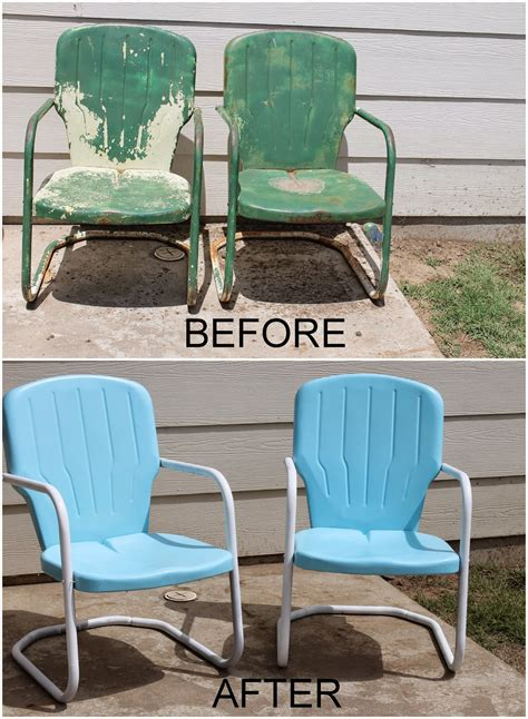 Outdoor Lawn Chairs by Repaint Metal Patio Chairs Diy Paint Outdoor Metal