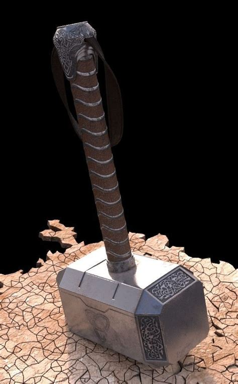 hammer of thor 3d model max cgtrader com