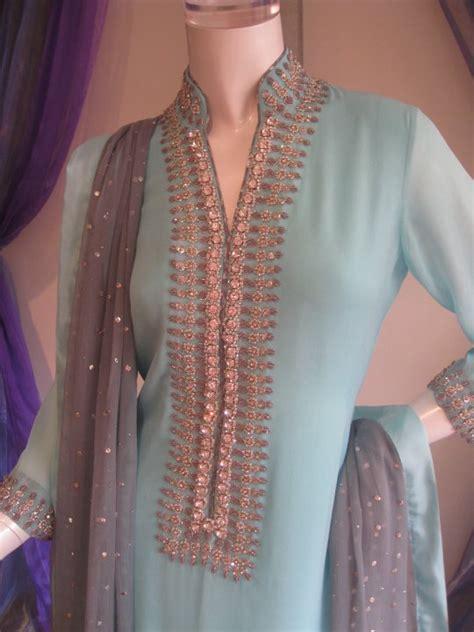 pakistani casual fashion light blue dress latest