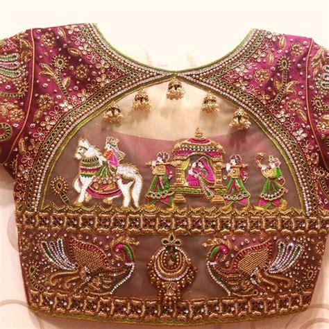 unique beautiful blouse designs  wedding choli