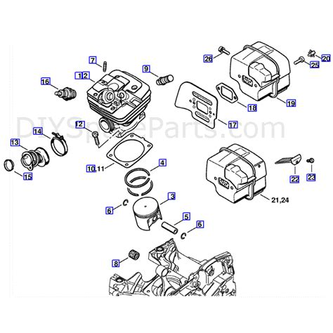 Stihl Ms 361 Chainsaw Parts Diagram