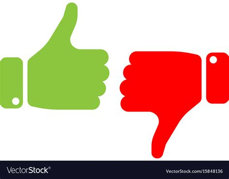 Image Thumbs Up Vote Thumbs Up Icon In And Green Make A Vector Image