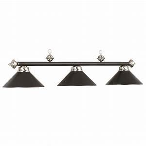 Black, Metal, 3, Light, Fixture, -, Billiard, Lights