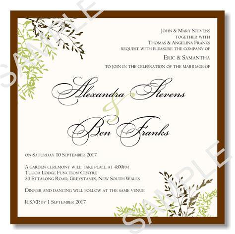 wedding invitations templates free wedding invitation templates 03