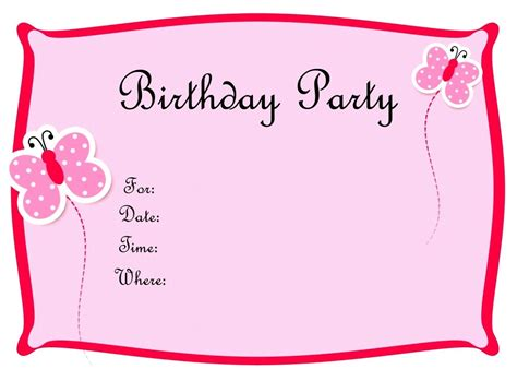 Birthday Party Invitation Card Template Word Words For Recognition Awards Birthday Cards Word Template Scientific Paper Business Letterhead Christmas Card Document Letter Gift Certificate Employee Evaluation