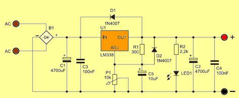 Adjustable Power Supply Circuit Electronics