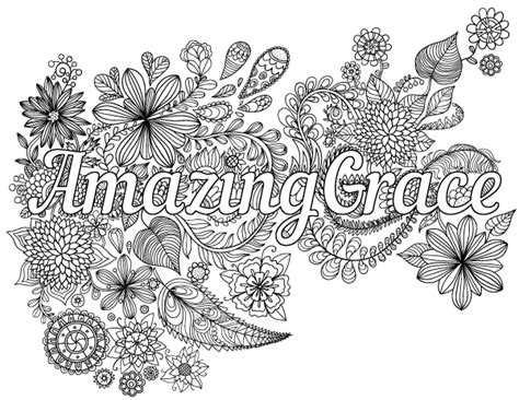 Amazing Coloring Pages Amazing Grace Coloring Page