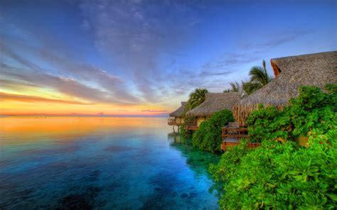 wallpaper beauty  nature tahiti islands resort