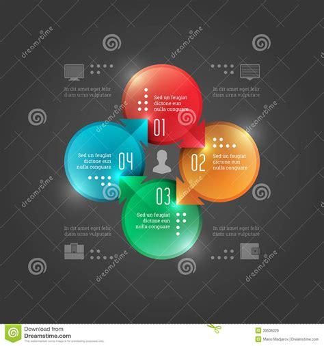 business infographics design template vector elements circle chart diagram illustration eps