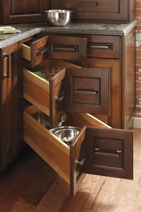 drawer corner cabinet diamond cabinetry