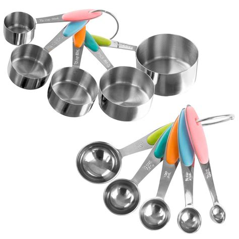 Trademark 10-Piece Stainless Steel with Silicone Measuring