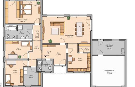 badezimmer aufteilung neubau bungalow trio khc bauträger gmbh massivhaus de