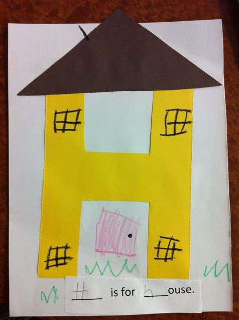house letter  pre  craft crafts  pre