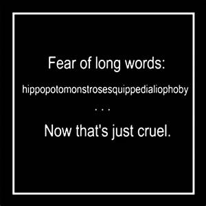 Fear Of Long Words | Make Me Laugh | Pinterest