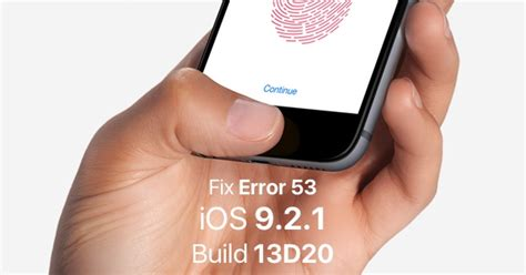 touch id iphone 6 ios 9 2 1 13d20 released to fix error 53 on bricked touch
