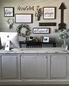 984 best office style decor ideas images on pinterest With kitchen cabinets lowes with burlap canvas wall art