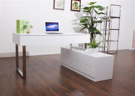kd modern office desk  jm  white lacquer