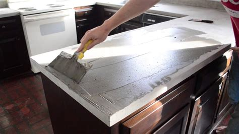 Spreading Ardex Feather Finish On Our Kitchen Counters