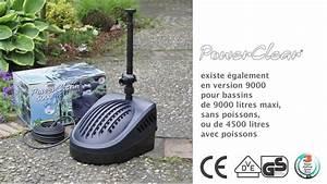 Pompe De Jardin Electrique : power clear 5000 pompe filtre pour bassin de jardin youtube ~ Edinachiropracticcenter.com Idées de Décoration